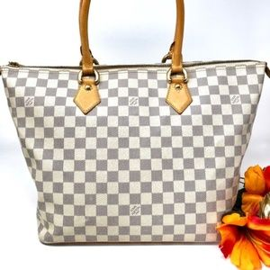Auth Louis Vuitton Saleya Mm Azur Damier #2159L37